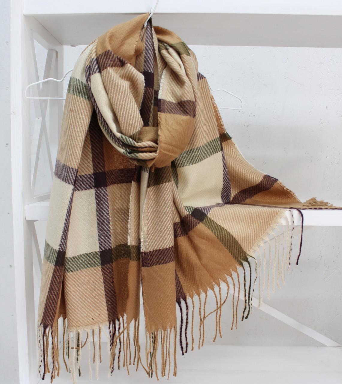 """Кашеміровий двосторонній шарф палантин """"Інеса"""" Cashmere 103016"""