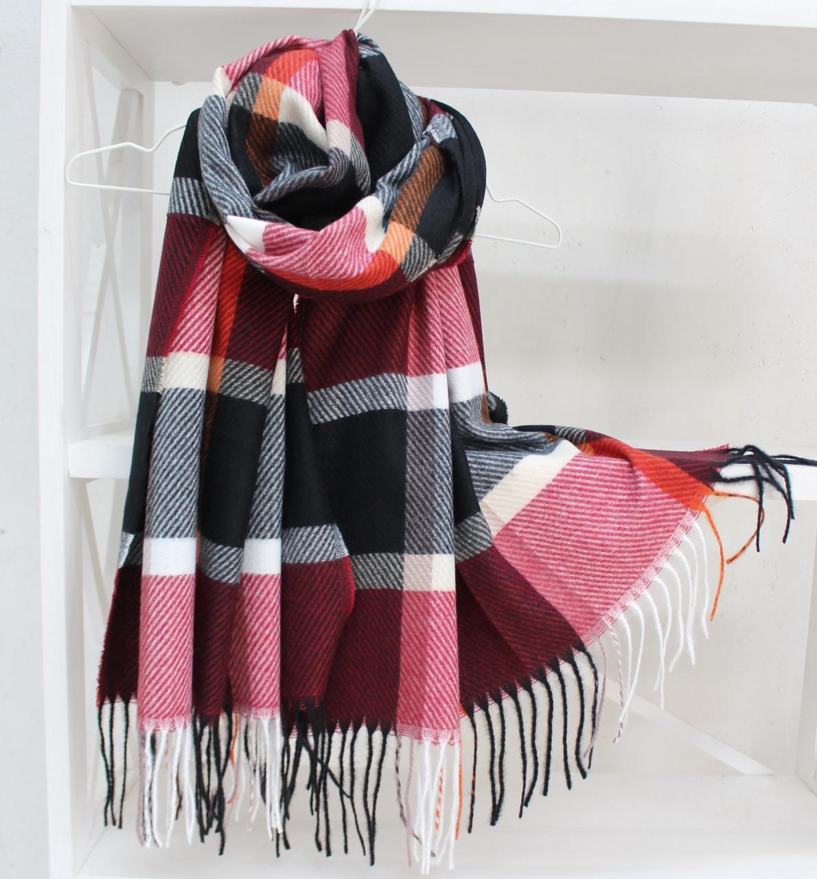 """Кашеміровий двосторонній шарф палантин """"Інеса"""" Cashmere 103011"""