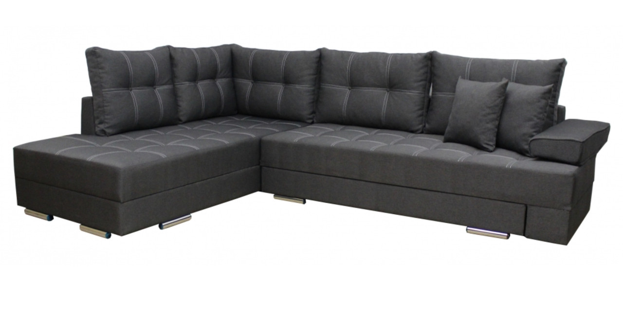 Диван Угловой поворотный с подушками Палермо ткань 35 SKY (Левый)  2100х2950 мм
