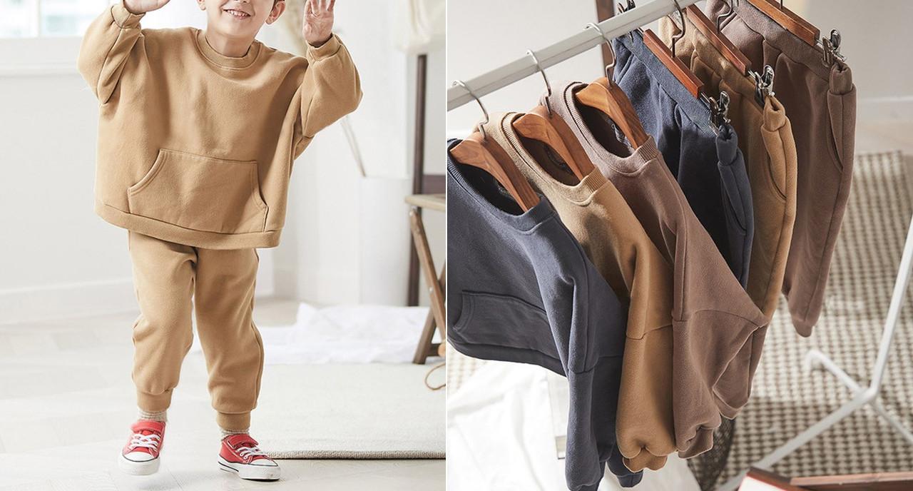 Детский модный спортивный костюм трехнить