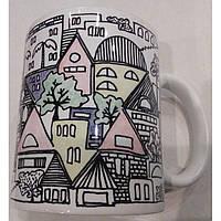"""Чашка с цветной росписью """"Иерусалим"""""""
