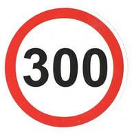 """Автомобильная наклейка знак """"300"""""""