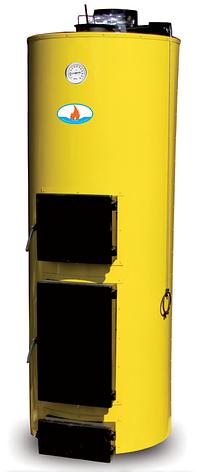 Твердотопливный котёл длительного горения БУРАН 20У кВт ГВС УНИВЕРСАЛЬНЫЙ (2 контура), чугунный колосник, фото 2