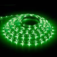 Светодиодная лента LS603/LED-RL 60SMD(3528)/m 4.8W/m 12V 5m*8*0.22mm зеленый на белом (блистер) IP20, Feron
