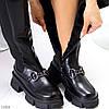 Люксові чорні замшеві високі жіночі чоботи з еластичними вставками з боків, фото 4