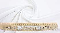 Ткань креп-костюмка однотонная цвет белый