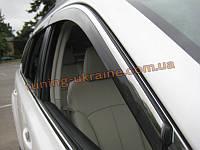 Ветровики с хром кантиком на Subaru Outback 2009-13+