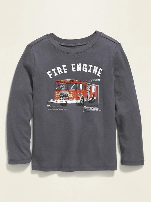 Прекрасний регланчик з пожежною машиною для хлопчика Олд Неві