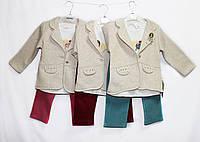 Костюм дитячий трійка для дівчинки. на 1, 2, 3 роки. Baby Small 1827, фото 1