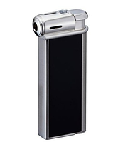 Зажигалка трубочная Sarome 350115 металл, газ/пьезо, серебро/черный
