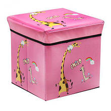 """Корзина для игрушек для девочки """"Жираф"""" розовый BT-TB-0019"""