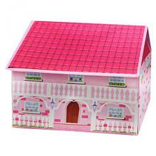 "Корзина для игрушек для девочки ""Домик"", вид 1"