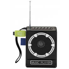 Портативный радиоприёмник NS-017U +FM+USB+SD. Встроенный АКБ