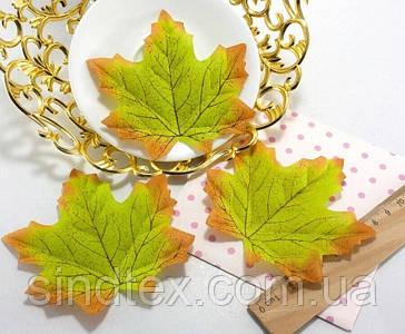 (48-50шт) Кленовий листочок, декор (прес) 95х90мм Колір - Зелений (сп7нг-8201)