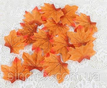 (48-50шт) Кленовий листочок, декор (прес) 95х95мм Колір - Помаранчевий (сп7нг-8203)