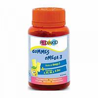 Pediakid Pediakid Radiergummis Omega 3 Омега-3 для детей со вкусом лимона 60 жевательных конфет