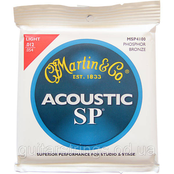 Струны Martin MSP4100 SP PhosphorBronze 92/8 Light 12-54