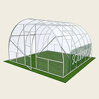 Теплица арочная 4х18м Solidprof, толщина поликарбоната 4мм Теплица арочная 4х18м Solidprof, толщина поликарбоната 8мм