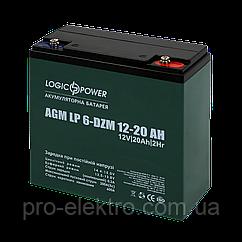 Акумулятор тяговий свинцево-кислотний AGM LogicPower LP 6-DZM-20