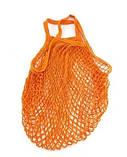 Сумка сетка авоська хозяйственная оранжевая, фото 2