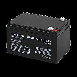 Акумулятор кислотний AGM LogicPower LPM 12 - 14 AH