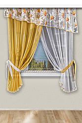 Комплект красивих штор для кухні