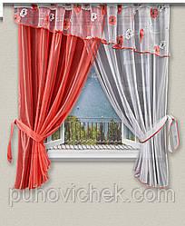 Красиві штори для кухні з ламбрекеном