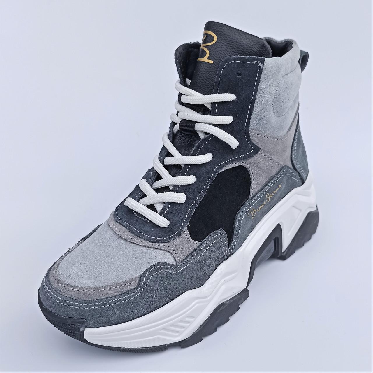 Женские ботинки на спортивной подошве, (код 1357) размеры: 36-40