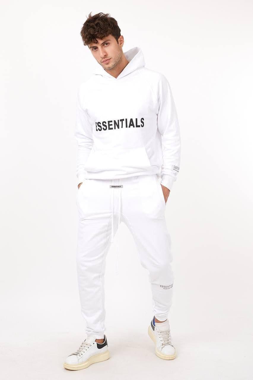 Чоловічий спортивний костюм Essentials CK3126 білий