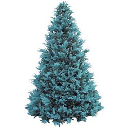 Новорічна Штучна Вікторія максі блакитна — Ялинка Каркасна Вулична 4 м | 400 см з пластику