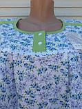 Тепла трикотажна нічна сорочка Трикотаж на байку Натуральна сорочка Промінчики 54 розмір, фото 3