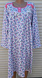 Теплая ночная рубашка Трикотаж на байке Натуральная сорочка Лучики 58 размер, фото 10