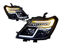 Тюнинг фары Nissan Patrol 2010-2015 г.в. фары, линза, черные D2S/H9