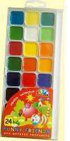 Краски акварель медовая Гамма «Забавные друзья» 24 цв. без кисти 312082
