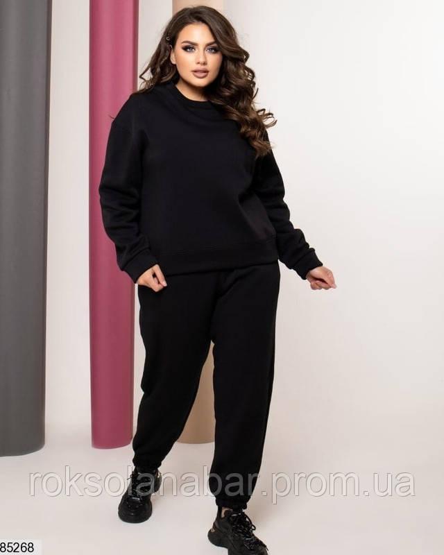 Спортивний костюм чорного кольору з начосом
