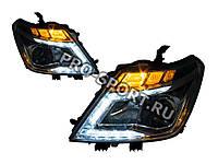 Тюнинг фары Nissan Patrol 2010-2015 г.в. аналог штатных, хром D2S/H9