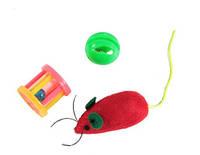 Lucky Fox (Лаки Фокс) Игрушка для кошек мышь, шар-погремушка, барабанчик