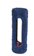 UniZoo (УНИ) Когтеточка для кошек Цилиндр с шариками серо-фиолетовая 29*10*24см