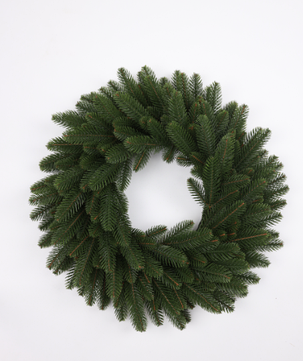 Штучний новорічний вінок з литими  зеленими гілками, розмір 55 см, фото 2
