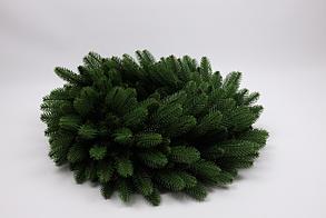 Штучний новорічний вінок з литими  зеленими гілками, розмір 55 см, фото 3
