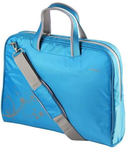 """Женская яркая сумка для ноутбука 15.6"""" - 16"""" PortCase KCB-51 голубой"""