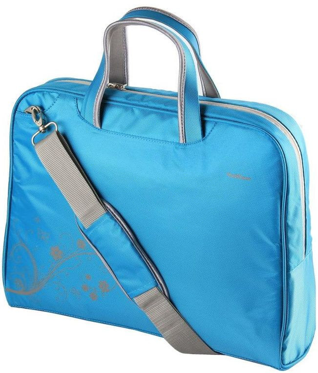 """Женская сумка для ноутбука 15.6""""-16"""" PortCase KCB-51 голубая"""