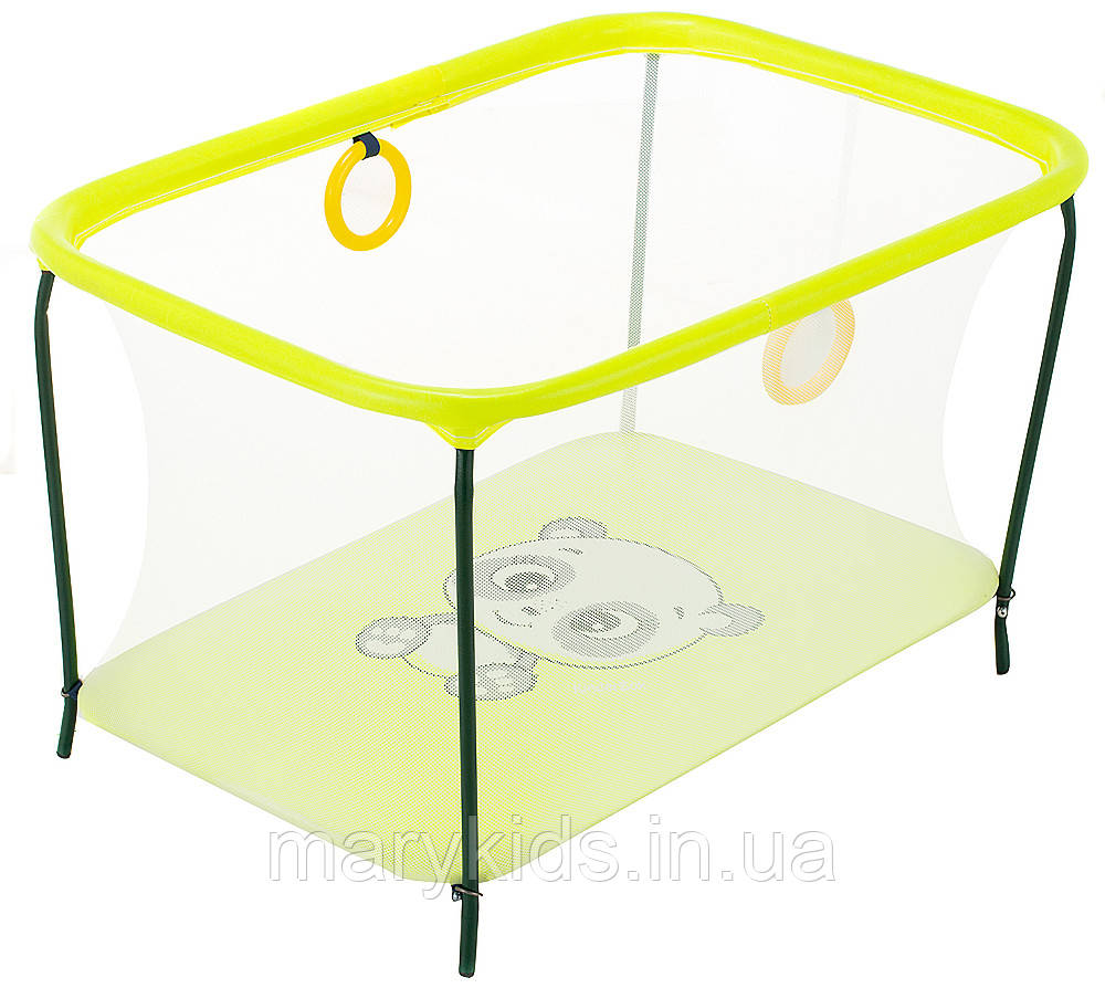 Манеж Qvatro LUX-02 мелкая сетка  желтый (panda)