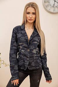 Пиджак женский 118V001 цвет Сине-серый 1062718198