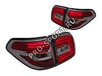 Задние тюнинг фонари Nissan Patrol 2010-2015 г.в. светодиодные, черные