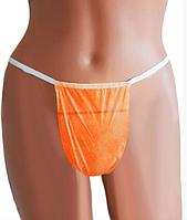 Одноразовые женские трусики, стринги (50 шт/уп) Оранжевый
