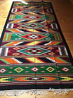 Доріжка ткана шерстяна гуцульський орнамент ручної роботи 310*145 см, фото 1