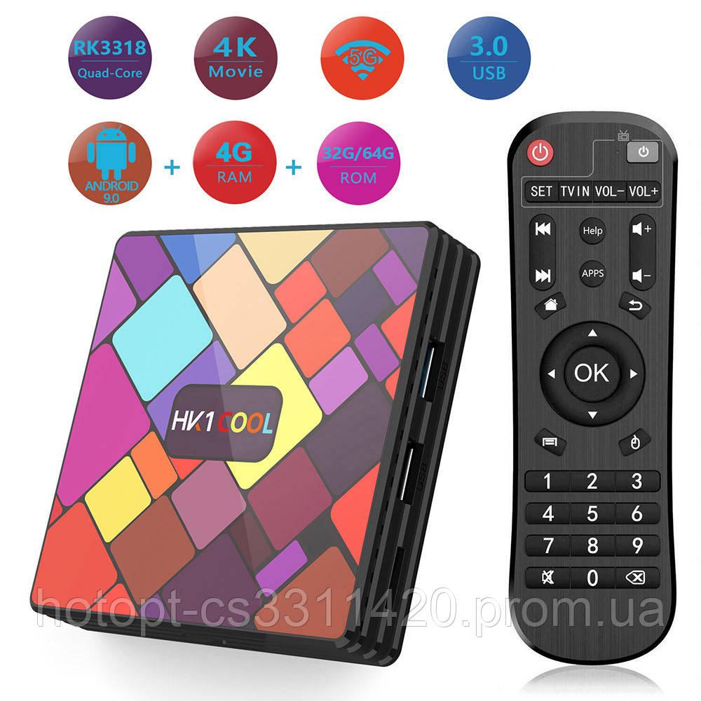Медіаплеєр приставка Android TV Box HK1 COOL COLOR 4GB/32GB (13951)  ск4