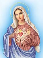 Схема для вышивки иконы бисером Непорочное сердце Марии