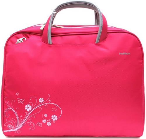 """Женская розовая сумка для ноутбука 15.6"""" - 16"""" PortCase KCB-52"""